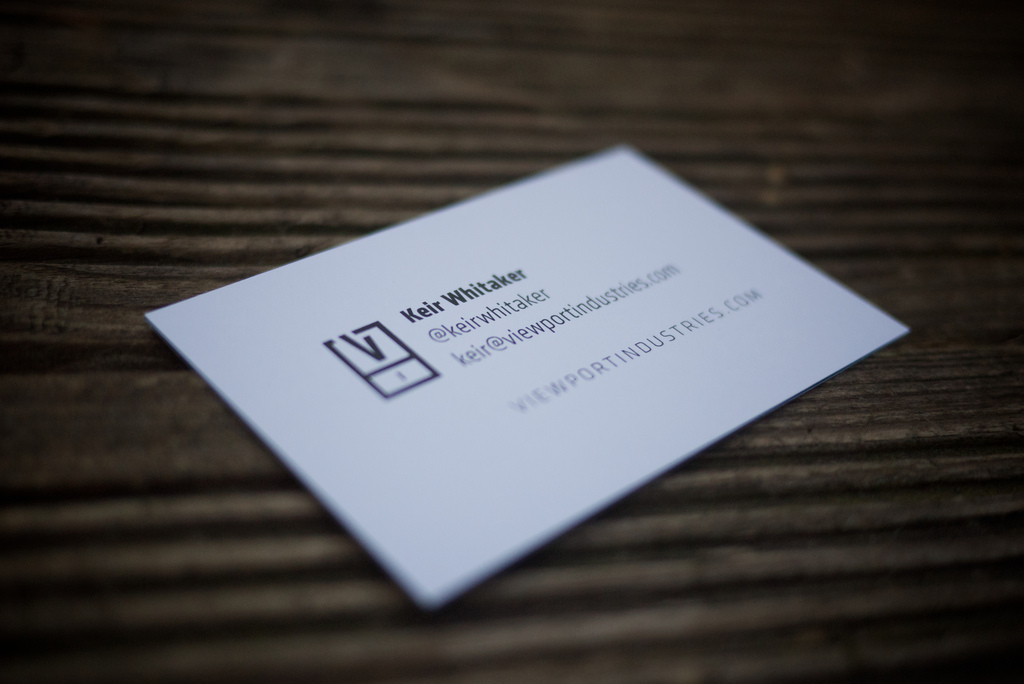 Keir Whitaker | New Luxe Business Cards